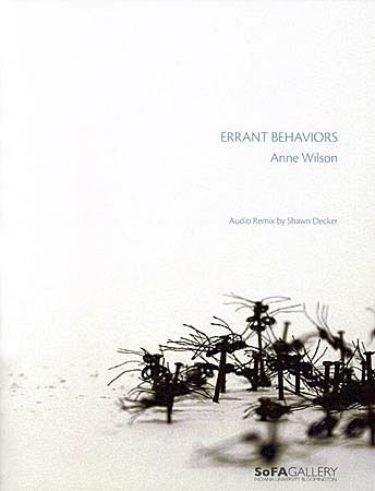 cover of Errant Behaviors catalogue